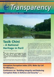 Jul – Dec 2011 - Transparency International Malaysia