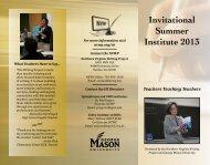 Invitational Summer Institute 2013 O - NVWP