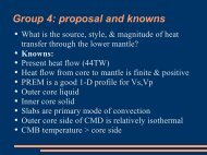 Group 4: proposal and knowns - USC Geodynamics