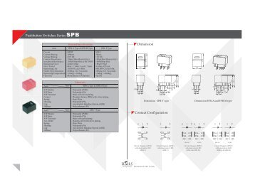 Pushbutton Switches Series SPB - RJS Electronics Ltd