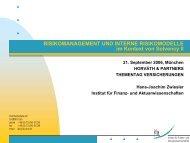 Risikomanagement und interne Modelle - Institut für Finanz