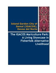 The IGACOS Mariculture Park: A Living Showcase ... - LGRC DILG 10