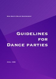 Guidelines for Dance Parties - Division of Local Government - NSW ...
