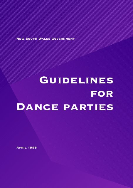 Guidelines for Dance Parties - Division of Local Government