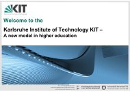 Karlsruhe Institute of Technology KIT – Welcome to the - KCETA - KIT