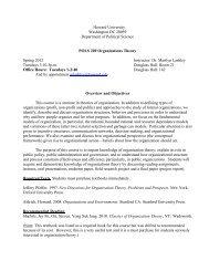 Organizational Theory - COAS - Howard University