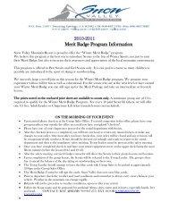 2010-2011 Merit Badge Program Information
