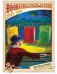Books Challenged and/or Banned - 2005-2006 - Illinois Library ...