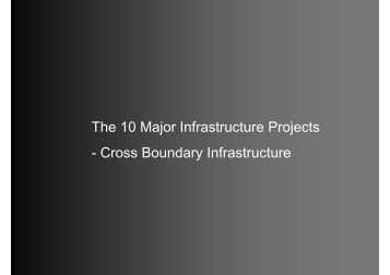 The 10 Major Infrastructure Projects - Cross Boundary Infrastructure