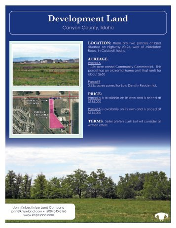 Development Land - Knipe Land Company