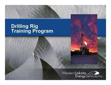 Drilling Rig Training Program