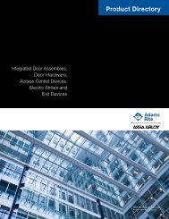 Product Directory - Access Control Solutions from ASSA ABLOY