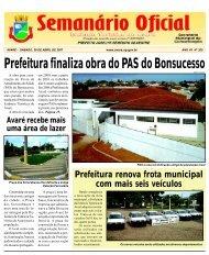 Prefeitura finaliza obra do PAS do Bonsucesso - Câmara Municipal ...