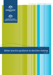 Better practice guidance to decision making [PDF,672KB] - Comcare