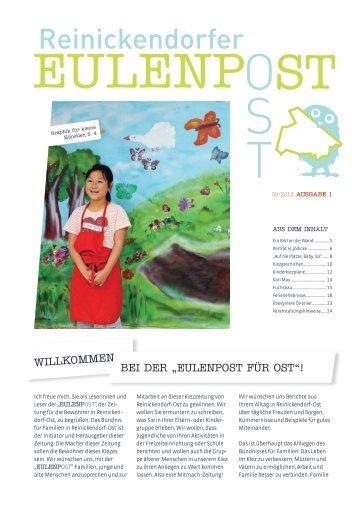 Webversion der Eulenpost, Ausgabe 1 - Grundschule am Schäfersee