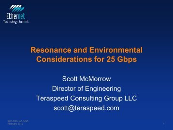 Resonance and Environmental Considerations for 25 Gbps