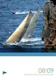 2008/9 Annual Report - Cruising Yacht Club of Australia