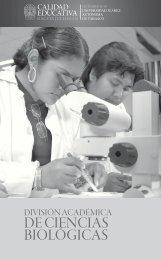 División Académica de Ciencias Biológicas - Publicaciones