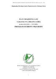 program ochrony przyrody - Państwowe Gospodarstwo Leśne LASY ...