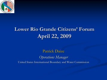 4/22/2009 - International Boundary and Water Commission