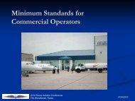 Minimum Standards for Commercial Operators