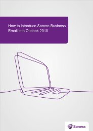How to introduce Sonera Business Email into Outlook 2010 (pdf)