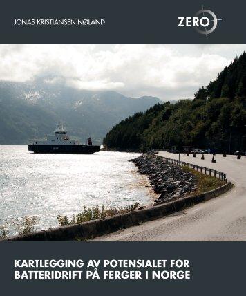 Kartlegging av potensialet for batteridrift på ferger i Norge - Zero