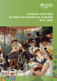 European action plan to reduce the harmful use of alcohol ... - Stap