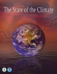 State of the Climate - National Climatic Data Center - NOAA
