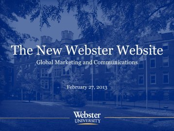 The New Webster Website - Webster University