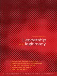 Leadership and legitimacy - Institute for Justice and Reconciliation