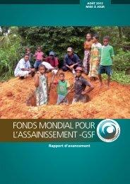 FONDS MONDIAL POUR L'ASSAINISSEMENT -GSF - wsscc
