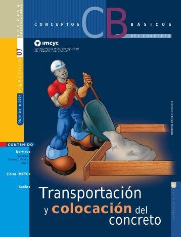 Transportación y colocación del concreto - Instituto Mexicano del ...