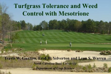 Mesotrione - TurfFiles - North Carolina State University