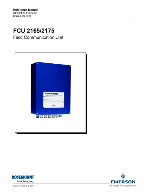 FCU 2165/2175 Reference Manual - Emerson Process Management