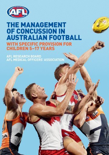 THE MANAGEMENT OF CONCUSSION IN ... - AFL Community