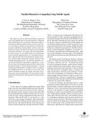 Parallel biometrics computing using mobile agents ... - IEEE Xplore