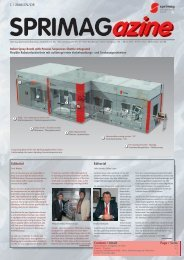 1 / 2008 EN/DE Editorial Editorial Content / Inhalt Page ... - Sprimag