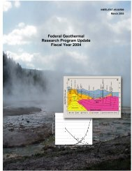 Federal Geothermal Research Program Update Fiscal Year 2004