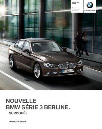 Les équipements option de la BMW Série 3 Berline