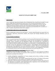 Job Description: Assistant Finance Director - City of Tigard