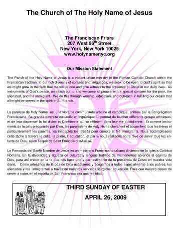 April 26.pub - Church of the Holy Name of Jesus