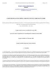 caisse régionale de crédit agricole mutuel loire ... - Journal Officiel