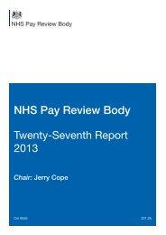 NHS Pay Review Body twenty-seventh report 2013 Cm 8555 (PDF)