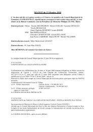 SEANCE du 15 octobre 2010 - Bienvenue sur le site de la commune ...