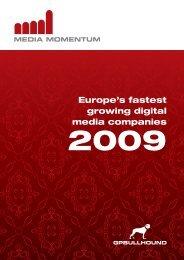 Europe's fastest growing digital media companies