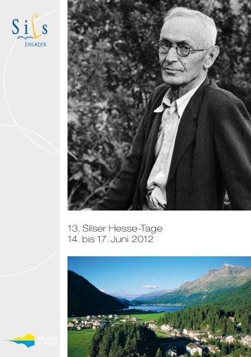 13. Silser Hesse-Tage 14. bis 17. Juni 2012 - Thomas Mann ...