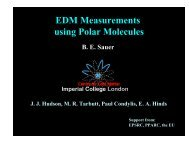 Search for EDMs in Heavy Polar Molecules - g-2 at Boston ...