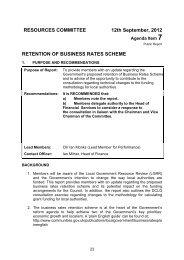 retention of business rates scheme