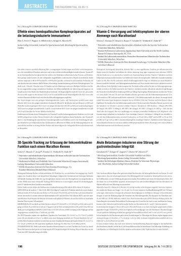 Abstracts 1-32 - Deutsche Zeitschrift für Sportmedizin
